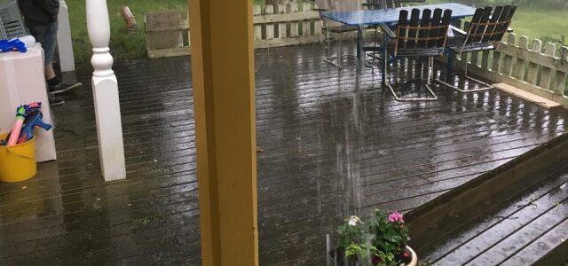 Det regnade på landet sommaren 2016