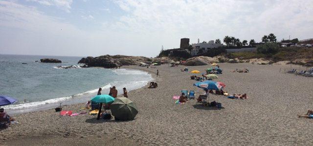 6/9   Strand och sen restaurang i Estepona