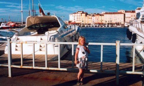 25/6  En dag på stranden som vi avslutade i St Tropez