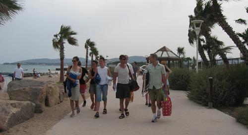 20/6  Besök på campingen som vi tog med till Cannes